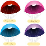 Parachute Message Labels Stock Image