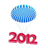 Parachute new year's 2012. Isolated on a white background Stock Photo