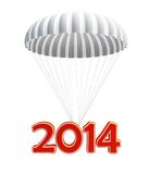 Parachute new year's 2014 Stock Photos