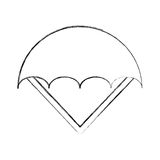 Parachute open isolated icon. Illustration design Stock Photos