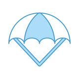 Parachute open isolated icon. Vector illustration design Royalty Free Stock Image