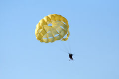 Parachute over the ocean Royalty Free Stock Image