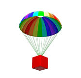 Parachute with package Royalty Free Stock Photo