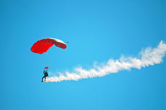 Parachute Performer royalty free stock photos