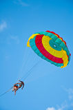 Parachute Phuket. Skydiving is a dangerous sport fun, exciting care professionals should be closely Vector Illustration