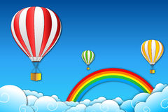 Parachute with rainbow Stock Images