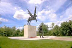 Parachute regiment memorial. The Parachute Regiment and Airborne Forces National Memorial, which is located at the National Memorial Arboretum in Staffordshire Stock Photos