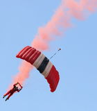 The Parachute Regiment's Red Devils parachute display team Royalty Free Stock Photography