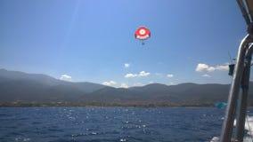 Parachute sailing Stock Photography