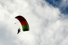 Parachute in the sky Royalty Free Stock Images