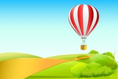 Parachute in sky Stock Photography