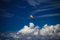 Parachute in the sky royalty free stock photo