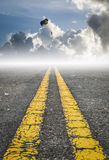 Parachute on the sky, road to success Stock Images