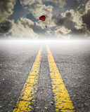 Parachute on the sky, road to success Royalty Free Stock Image
