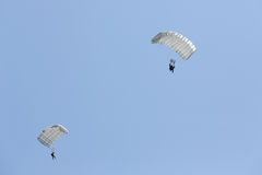Parachute soldiers in the sky,. Japan Self Defense Forces Royalty Free Stock Photography