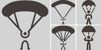 Parachute sport icons Royalty Free Stock Photo