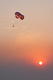 Parachute on sunset Royalty Free Stock Photography