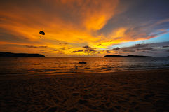 Parachute Sunset Stock Image