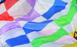 Parachute texture background Stock Images