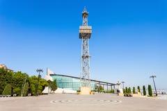 Parachute tower in Baku stock photos