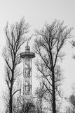 Parachute tower in Katowice Stock Images