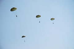 Parachute troopers Royalty Free Stock Photo