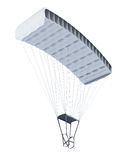 Parachute  on white background. 3d rendering Royalty Free Stock Photo