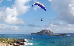 Parachuter über Hawaii stockbild