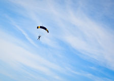 Parachuter Photographie stock