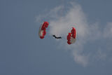 Parachuter Photo stock