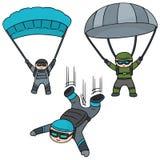 parachuter Photos stock