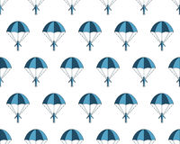 Parachuter pattern Royalty Free Stock Image