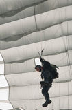 A parachuter performing at Zagreb Air Show 2010 Stock Photography
