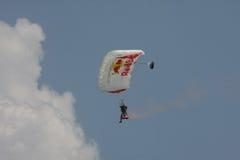 Parachuter. At Red Bull Flugtag,Flying day,Belgrade Serbia,Jun 2013 Royalty Free Stock Photos