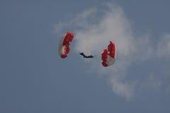 Parachuter. At Red Bull Flugtag,Flying day,Belgrade Serbia,Jun 2013 Stock Photo