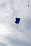 Parachutes attack Stock Photo