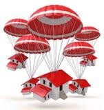 Parachutes estate stock images