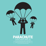 Parachutes Skydiving Sign Royalty Free Stock Photos