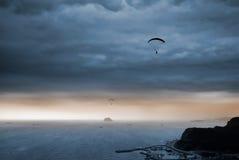 Parachuting royalty free stock image