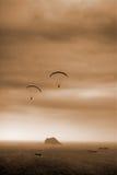 Parachuting royalty free stock photography