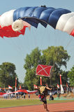 Parachuting attraction to celebrate Indonesian Independence Day Royalty Free Stock Photography