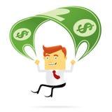 Parachuting Businessman Royalty Free Stock Photography