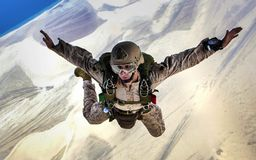 Parachuting, Extreme Sport, Air Sports, Mountaineer stock photo