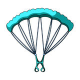 Parachuting.Extreme sport single icon in cartoon style vector symbol stock illustration web. Stock Image