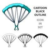 Parachuting.Extreme sport single icon in cartoon style vector symbol stock illustration web. Parachuting.Extreme sport single icon in cartoon style vector Stock Photos