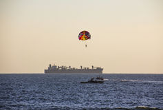 Parachuting in Goa Royalty Free Stock Images