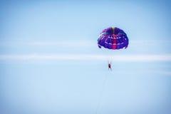 Parachuting at sea Stock Photos