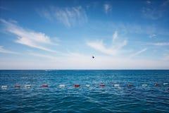 Parachuting at sea Royalty Free Stock Photos