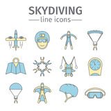 parachuting skydiving vector illustratie