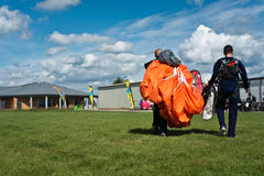 Parachutism competition Stock Photography